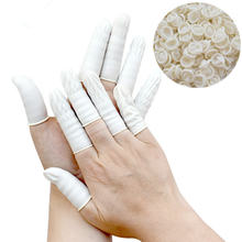 Disposable 100% pure Latex white color finger cots