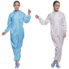 ESD Jumpsuit with Hood Antistatic Cleanroom Coverall