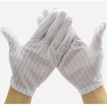 S/M/L Size Safety Cleanroom Work Pu Fingertips Coated Carbon Esd Gloves
