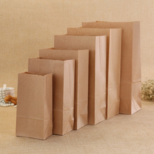 OEM 60gram white craft paper bag,quear bottom food bag,Biscuit bag, take away bags.Fast Food Bags