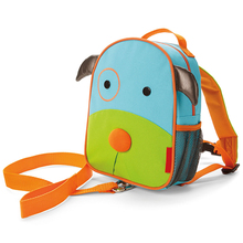 Custom design cartoon backpack with safety leash anti lost