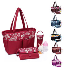 Trendy waterproof baby diaper bag for moms