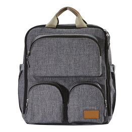 Grey mommy diaper bag baby backpack