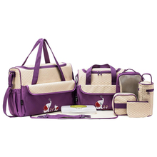 Multi functional cheap baby diaper bag set