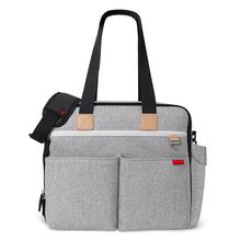 Wholesale grey neutral backpack diaper bag