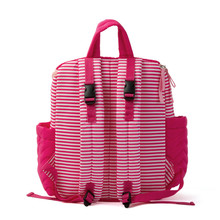 compact shoulder diaper backpack bag tote mommy stripe diaper bag