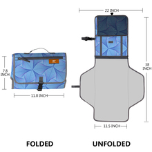 Waterproof elephant Flannel and Bamboo Fabric Baby Changing Mat