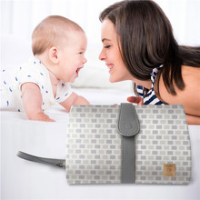 high quality grey and white mommy Portable diaper baby changing pad mat