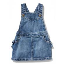 Girls long sleeve denim kids jean ruffle children girl dress