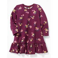 Wholesale baby girl drop waist dress