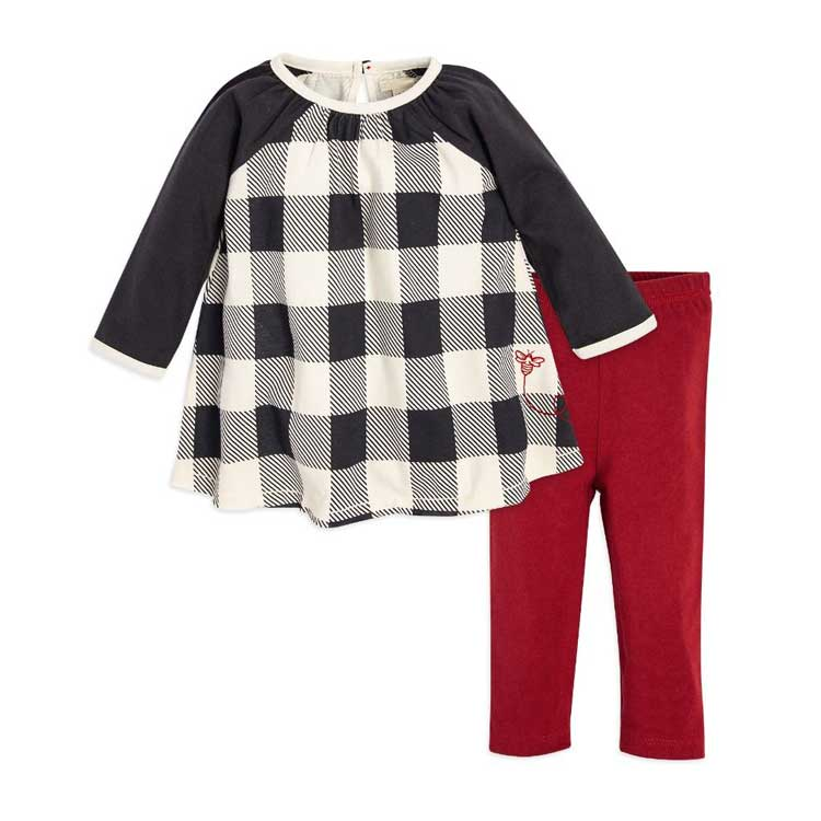 Hot selling baby girls casual apparel stock two pieces sets