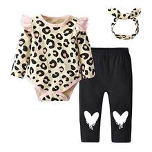 Newborn infant baby girls long sleeve clothes set