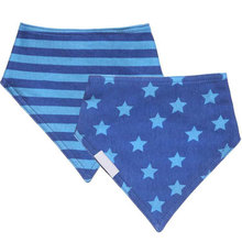 Wholesale factory price cotton bandana bibs with button