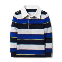 Kids tops boys striped rugby tee