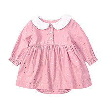 Factory outlets infant girls long sleeve romper dress