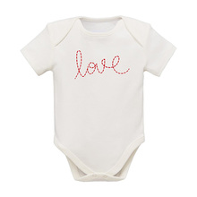 Baby girl frilled bodysuit with collar around neck