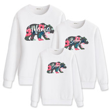 Fashion long sleeve sweatshirt mama bear matching family clothes