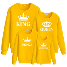 Long Sleeve Sweatshirt Crown And Letter Printed Parent Child Wear