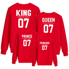 Mother and daughter clothes family matching king queen sweatshirt