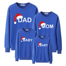 Parent child long sleeve round neck sweatshirt matching family clothes