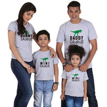 Wholesale Dinosaur printed family tshirt mother and son matching outfits