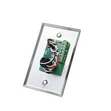 Two Colored LED Indication Door Release Button With Stainless Steel Plate