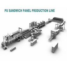 Fully automatic PU sandwich panel machine  production line