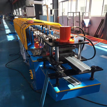 Stamping rolling shutter door frame roll forming machine