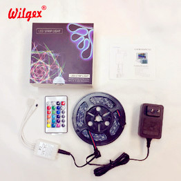 Wilgex LED Strip Lights 12V 24V RGB LED Neon Flex Set