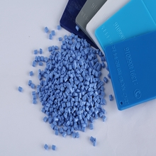 Granules Plastic for Extrusion or Injection Blue Polycarbonate Granules