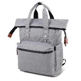 Travel large spacious roll top diaper tote backpack