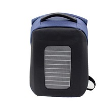 Solar Panel Powered Backpack Water Resistant Bag with USB Charging Port for Business Laptop backpack