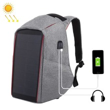 Portable Daypack with USB Charging Port-Solar Panel Charge Business Laptop Backpack