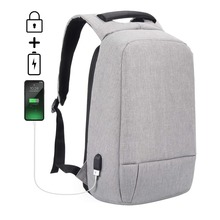 Anti Theft Travel Bag with USB Charging Port Computer Backpack Water Resistant Business Laptop Backpack
