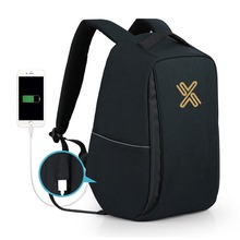 Anti Theft Travel Pack Water Resistant College Student Bag With USB Charging Port Business Laptop Backpack