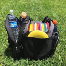 Disc golf bag with cooler and extra padding comfortable strap