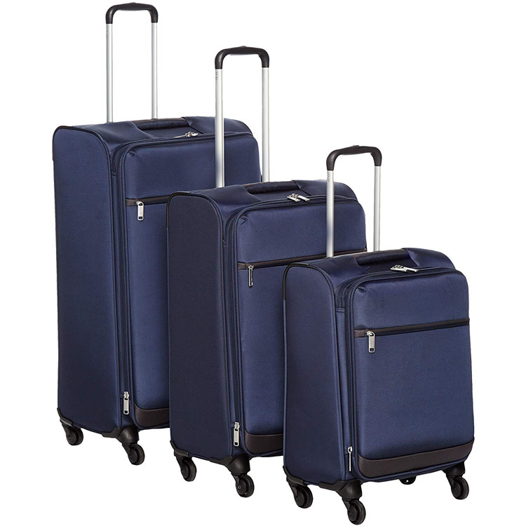 Softside carry on spinner luggage suitcase
