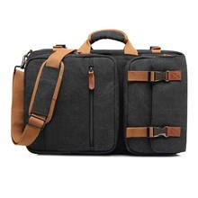 Convertible messenger shoulder bag multi functional laptop case business briefcase