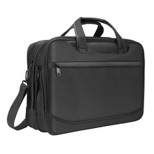 Expandable large briefcase shoulder bag water resisatant business messenger briefcases