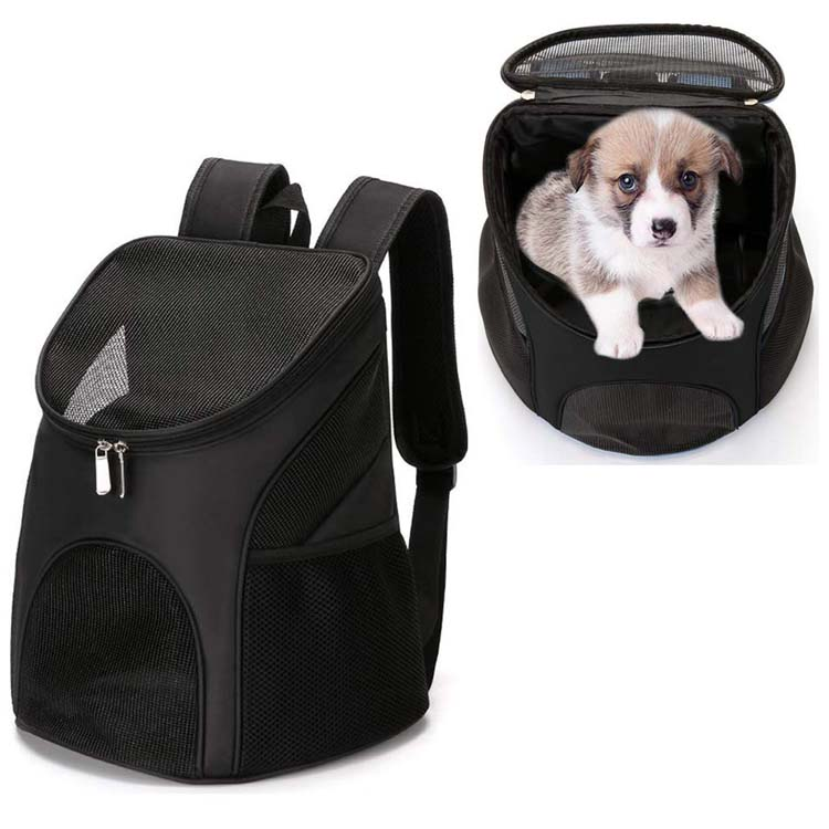 Outdoor Breathable Dog Carrier Bag Lightweight Traveling Hiking Camping Pet Backpack