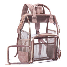 Large Clear Backpack Transparent Multi Pockets Backpacks