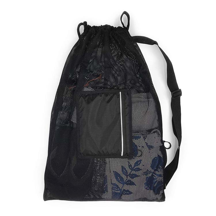 Multifunctional Large Drawstring Sling Mesh Bag Best for Training Gym Swimming Bag
