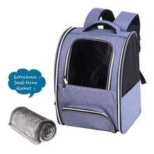 Hiking pet carrier backpack for small cats and dogs airline approved pet backpack