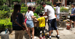 Quanzhou Xiangshun Bag organized a volunteer care activity on this Saturday