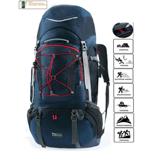 Adjustable hiking backpack for men women with free rain cover