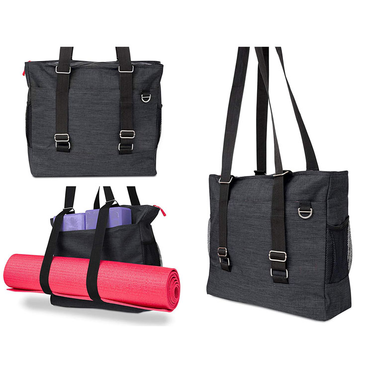 Yoga mat bag yoga carrier backpack with versatile storage mesh and zipper pockets