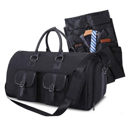 Garment travel bag suit carrier duffle bag foldable flight bag with shoes pouch for men women