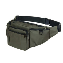 Sports fanny pack for men women, outdoor waist pack bag with 6 zipper pockets