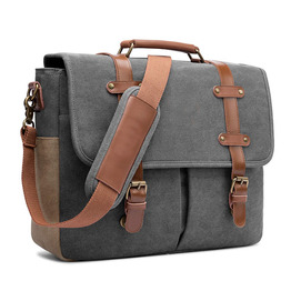 Laptop shoulder bag canvas business briefcase large vintage satchel college leather handbag crossbody bag for men