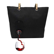 Fashionable Wine Purse with Hidden Insulated Compartment Multifunctional Tote Wine Bag